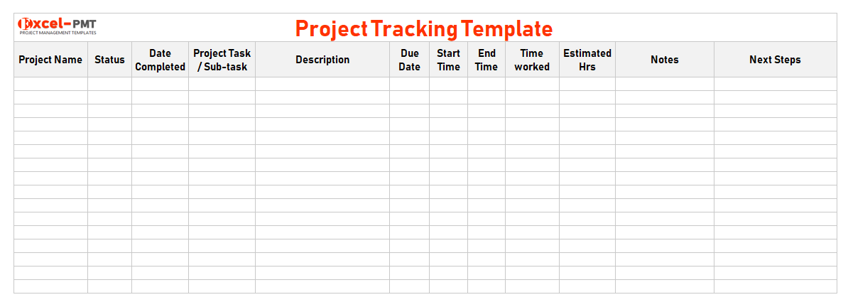 Project Tracking Template Excel Free Multiple Project Task