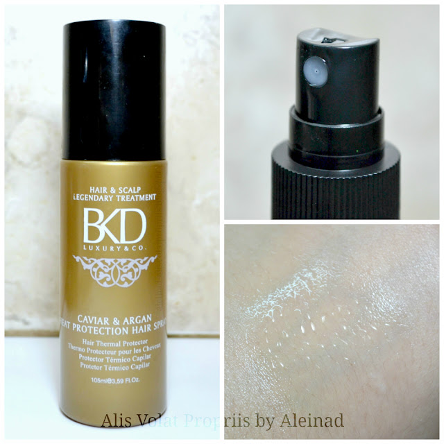 BKD caviar & argan heat protection hari spray reseña review