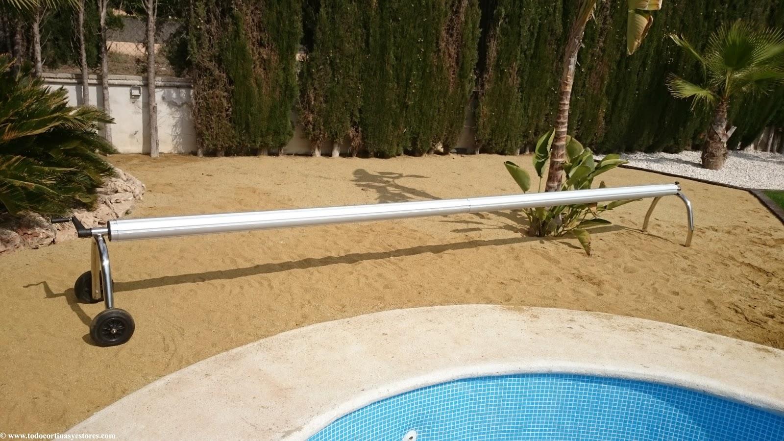 Decoracion interior cortinas verticales estores for Cobertor de piscina automatico