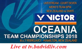 Victor Oceania Team Championships 2018 live streaming
