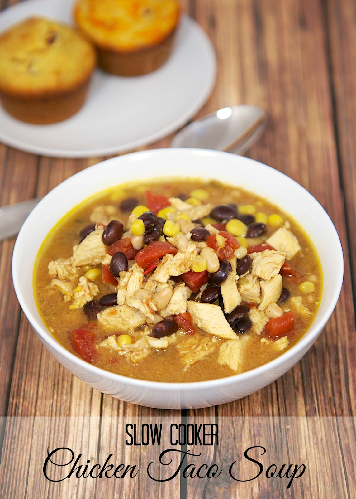 Slow Cooker Chicken Taco Soup - tastes like the Chicken Tortilla Soup from Chick-fil-a - SO good! Freezes well too!