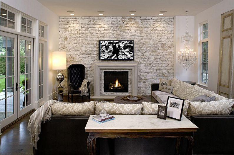 Image result for Decorative Brick living room