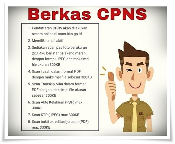 Cara upload dokumen untuk daftar CPNS ukuran 300Kb