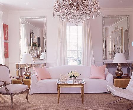 Soft Pink Living Room Design Ideas
