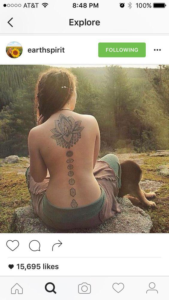 Beautiful Chakra Tattoo For Girls