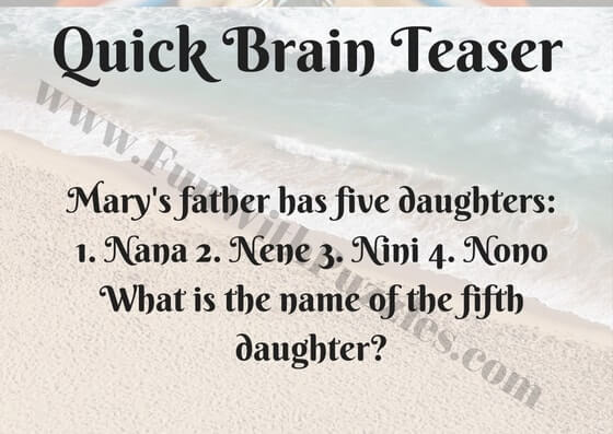 Quick Fun Brain Teasers With Answers Fun With Puzzles