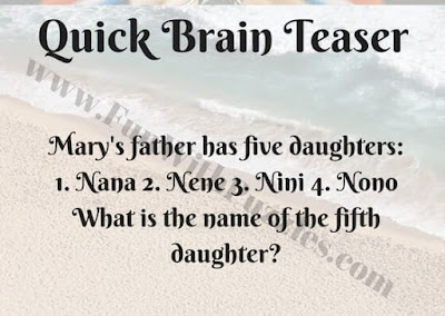 Quick Brain Teaser-Name