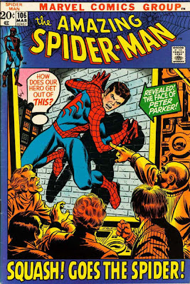 Amazing Spider-Man #106, unmasked