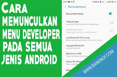 Cara menampilkan Menu developer pada semua jenis android