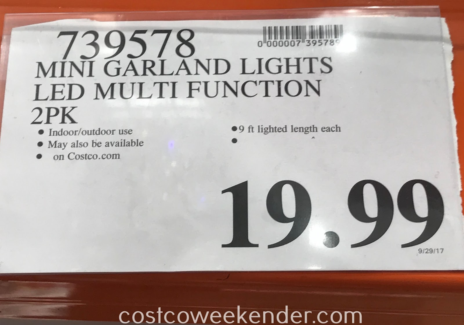 Deal for a 2 pack of Mini Multifunction Garland LED Lights at Costco
