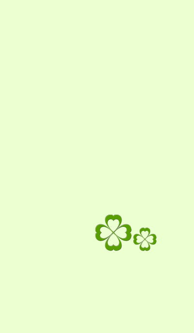 Four leaf clover that can make you happy
