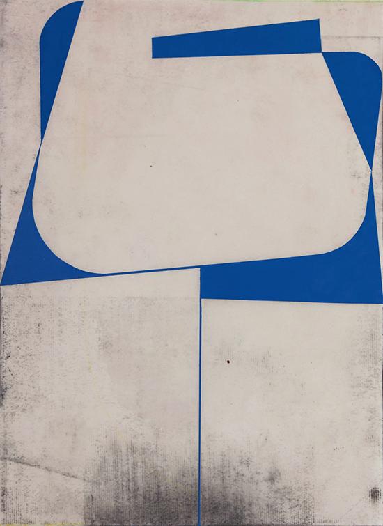 Katrin Bremermann 16148 (KB/P 170), 2016 Varnish on Paper 40,5 x 29,7 cm