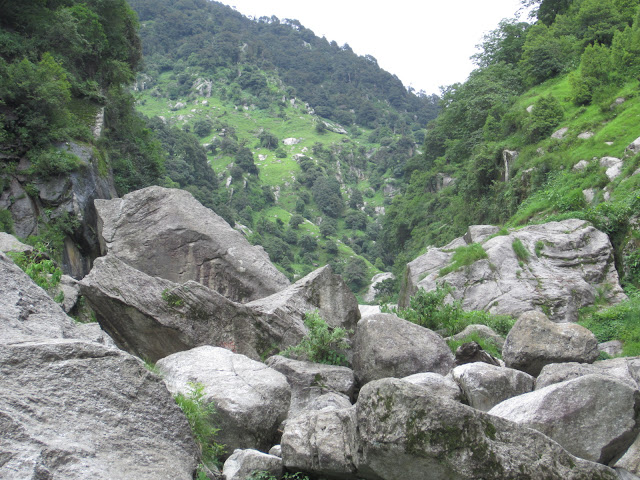 view from himalyan waterfall