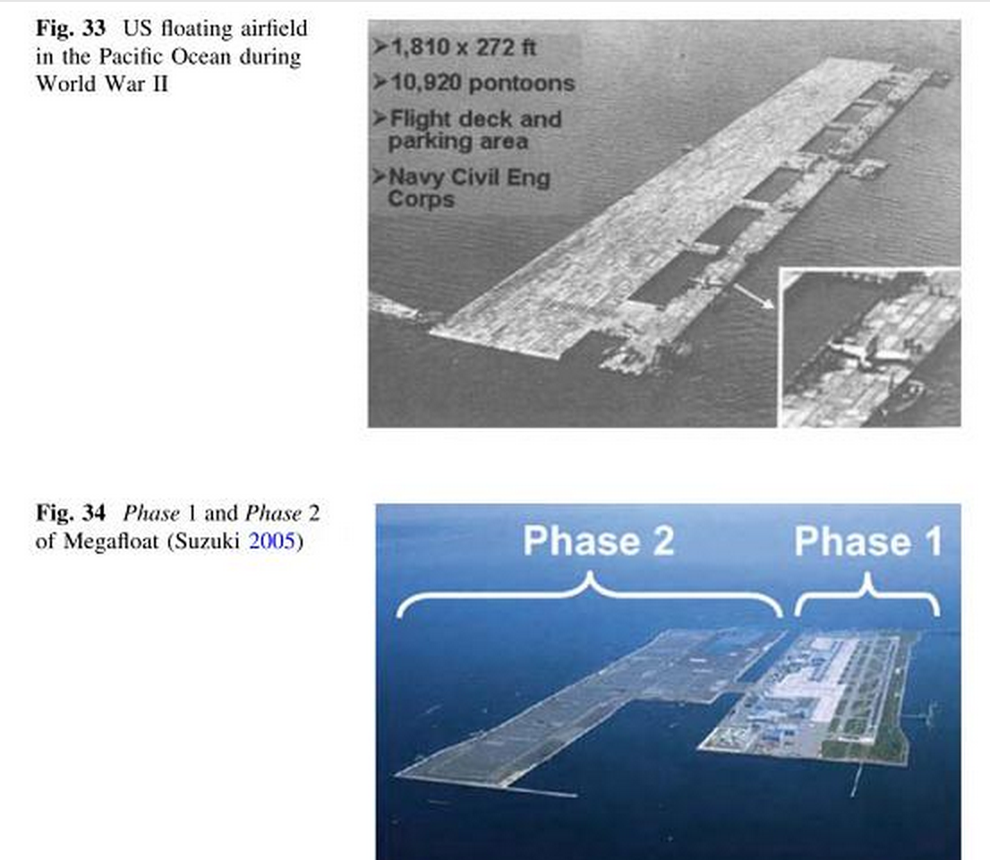 History and Future of Floating airports and modular Floating