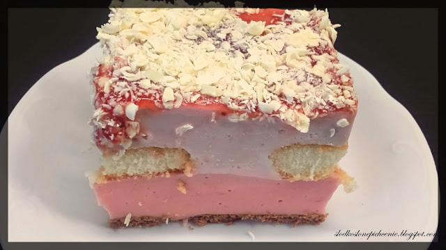 Kostka jogurtowo-truskawkowa