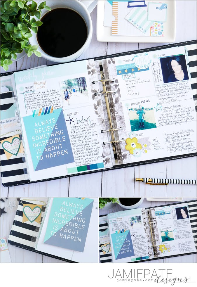 Using the Pink Paislee Collection Turn The Page On My Planner Pages by Jamie Pate  |  @jamiepate for @pinkpaislee