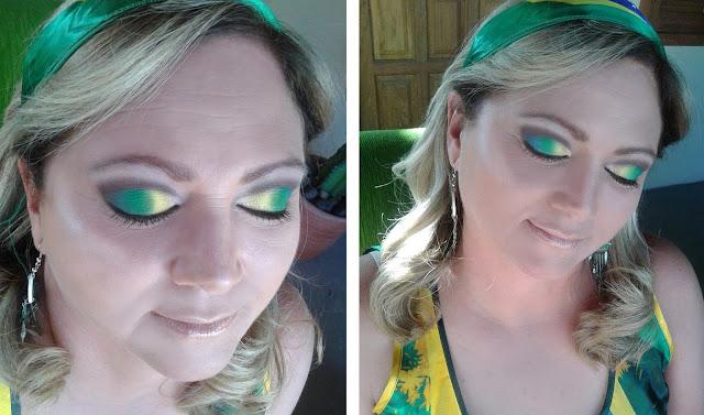 Olimpíadas 2016 Brasil Maquiagem Curt Crease verde e amarelo mac vult koloss racco