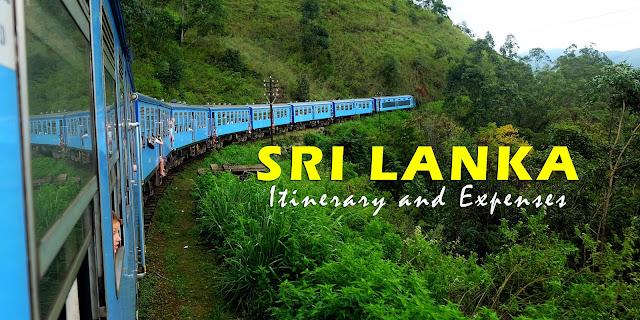 Sri Lanka Itinerary and Expenses