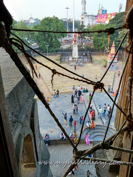 View from above Dilli Darwaza - Shaniwar wada fort, Pune