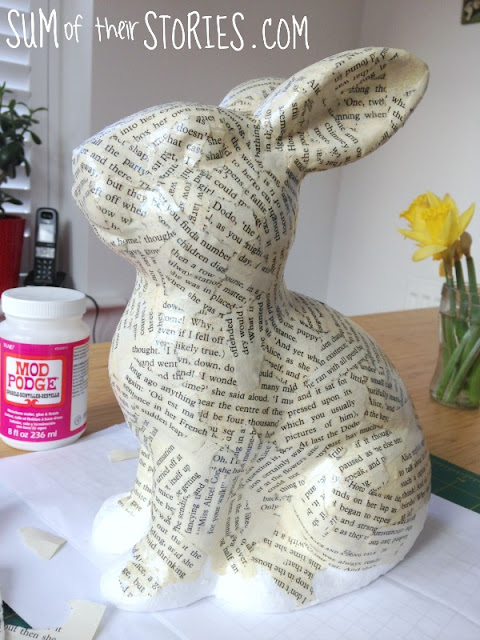 Easter Decoupage Book Bunny