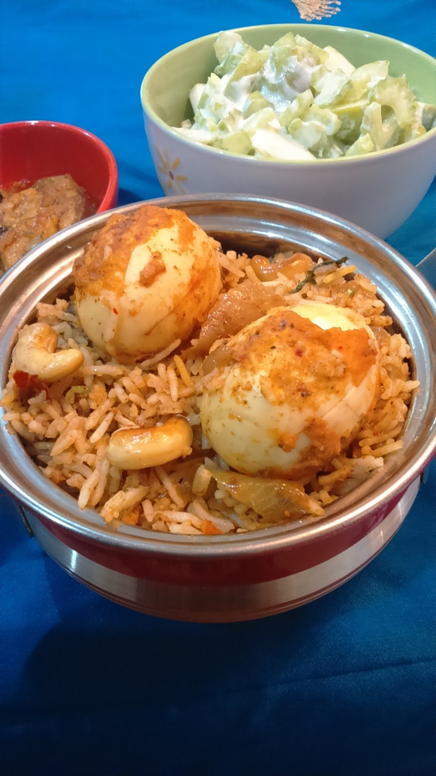 sarguna s fantabulous kitchen masala egg dum briyani