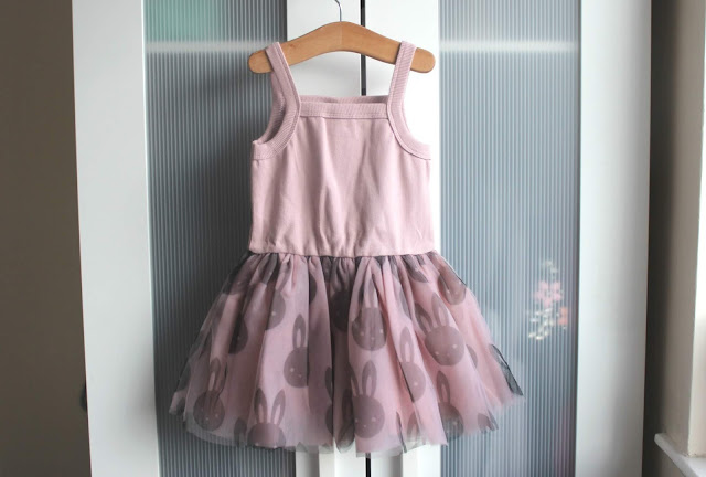 A review of the HUXBABY Bunny Summer Ballet Onesie Dress