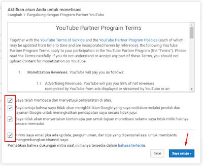 Cara Super Simple Daftar Google Adsense Melalui Youtube 4