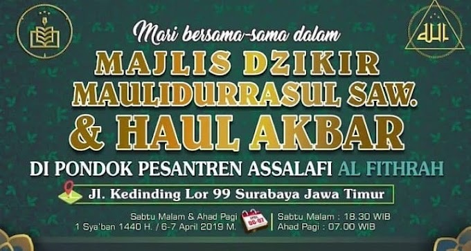 Info Al-Khidmah: Haul Akbar Al-Fithrah Kedinding Surabaya