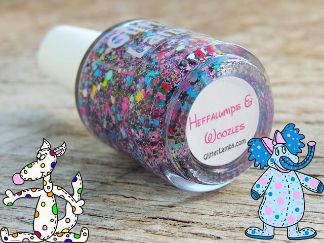 Limited Edition-Heffalumps And Woozles Glitter Lambs Nail Polish-Indie Handmade Custom Nail Polish