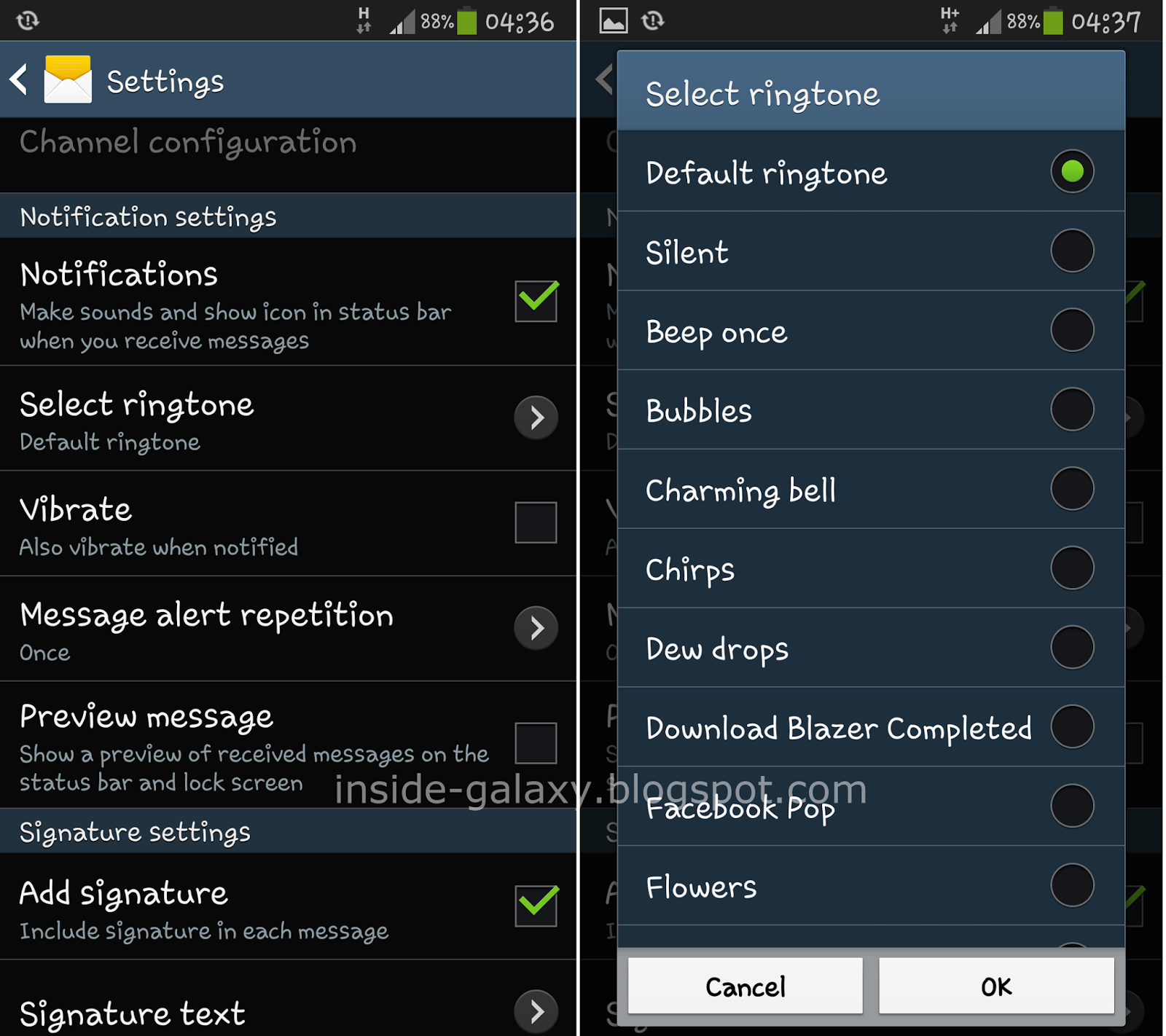 Samsung Galaxy S4: How to Change Message Tone with Three