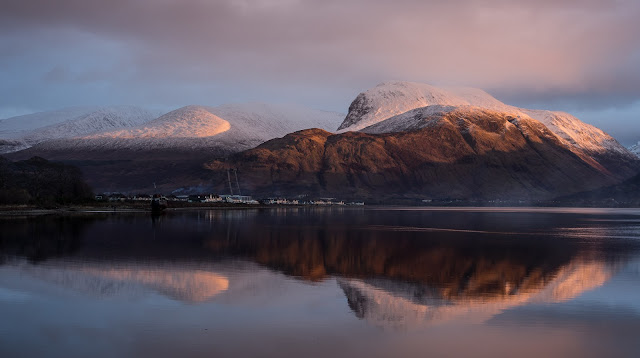 Photo of Ben Nevis across Loch Linnhe
