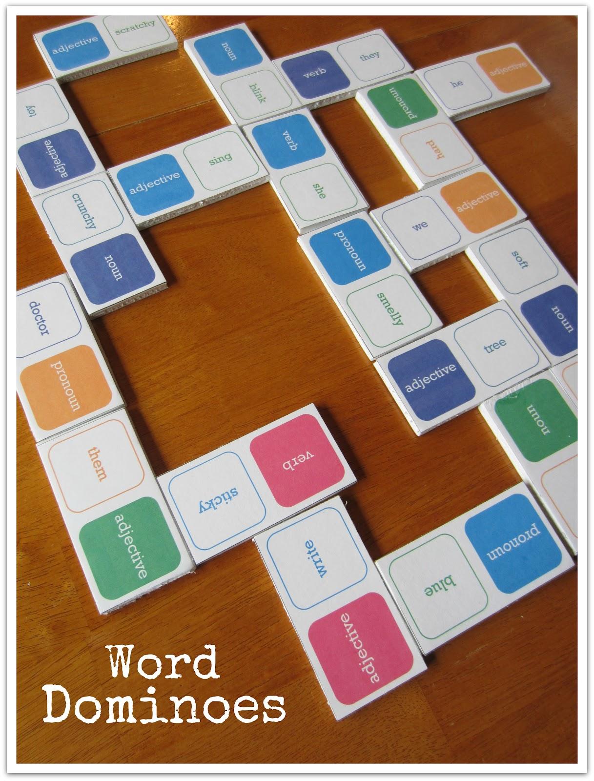 Relentlessly Fun Deceptively Educational Word Dominoes
