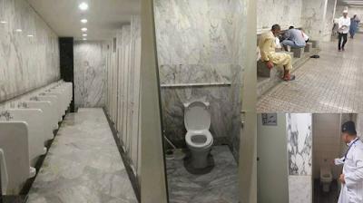 Payung Masjid Meniru 'Madinah' Toilet Berkiblat ke Eropa?