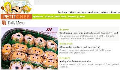rilakkuma bento party food prawn salad petitchef