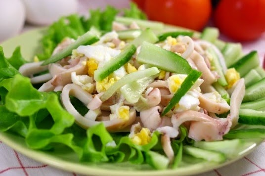 Recipes Salad with Calamari