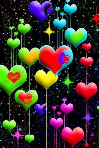3d love wallpapers, romantic background images, hearts pictures for mobile