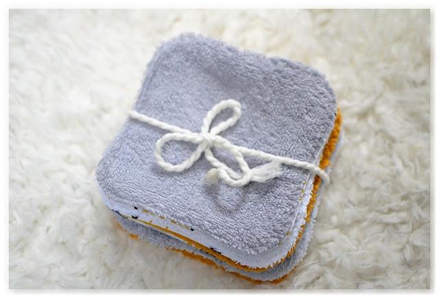 grande lingette lavable en coton et tissu éponge