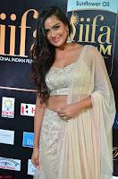 Prajna Actress in backless Cream Choli and transparent saree at IIFA Utsavam Awards 2017 0010.JPG