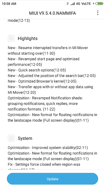 Redmi Note 5 Pro Settings About Phone System Updated Highlights