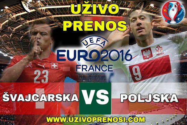 Euro2016: Švajcarska - Poljska UZIVO PRENOS