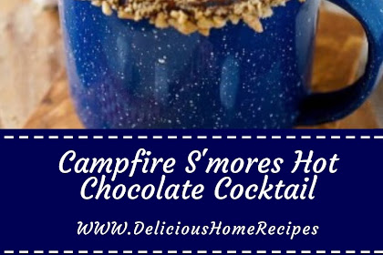 Campfire S'mores Hot Chocolate Cocktail #christmas #chocolate