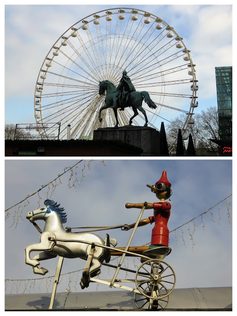 Ferris wheel and steam punk motif at the International Christmas Market in Essen Germany