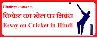 Essay on Cricket in Hindi