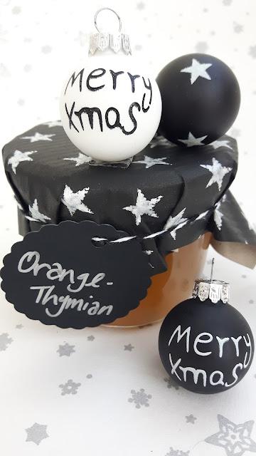 leckere Weihnachtsgeschenke aus der Küche: Orangenmarmelade mit Thymian