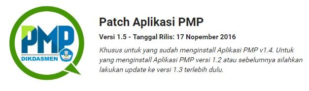 Patch Aplikasi PMP Versi 1.5 Terbaru