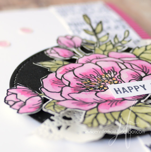 Watercolor Pencils, Birthday Blooms, Suite Sentiments, Birthday card by Jennifer Frost, Stampin' Up!, Video Tutorial