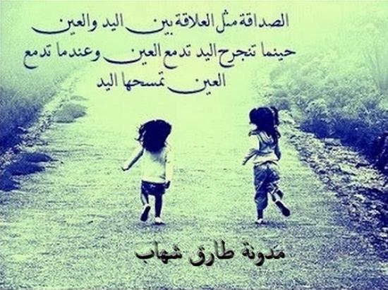 الصداقة عندما ينجرح الصديق يجد صديقه يقف بجانبه يواسيه