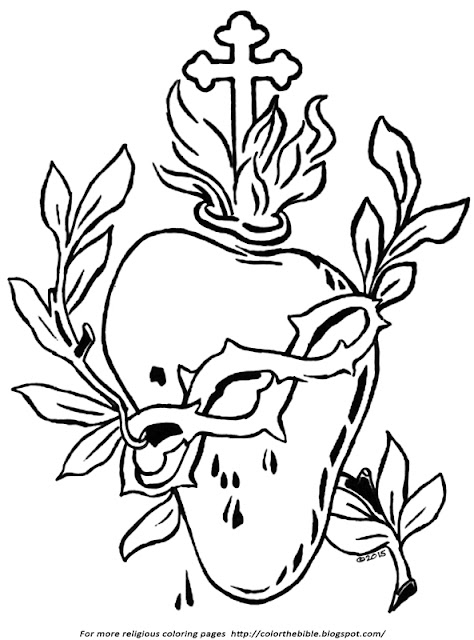 sacred heart coloring pages - photo#20