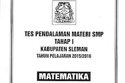 Soal TPM SMP Kabupaten Sleman Tahap 1 2015/2016 (16-17 November 2015)
