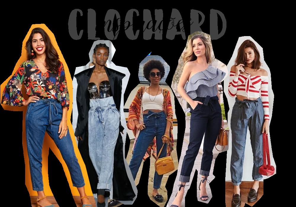 calça clochard jeans inspirações